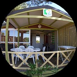 Un bungallow du camping les Oliviers à Ile Curse en Corse